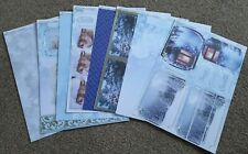 CREATE & CRAFT Photographic collection 8 CHRISTMAS FOILED DECOUPAGE TOPPERS Kit