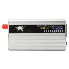 1000 W Car Truck Power Inverter DC 12v To AC 220v Charger Converter Sine Wave