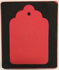 Sizzix Large Red Original Die Cutter ~ SUPER SCALLOP TAG ~ Scrapbook Cuts Case