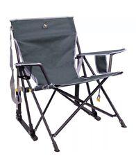 GCI Outdoor Kickback Rocker Chair Camping Folding Rocking Portable w/Cup Holder