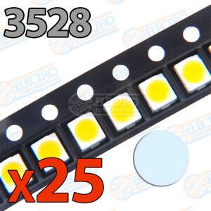 25x LED SMD3528 BLANCO FRIO 20mA brillo smd 3528 cool white