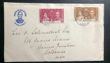 1937 Gambia First Day Cover FDC King George VI Coronation KGVI To Colorado USA