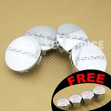Set of 4 Shinny Chrome Silver Car Alloy Rim Wheel Center Hub Cap logo 63MM 2.5""