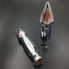 "Motorcycle 1"" Hand Grip Turn Signal Kawasaki Vulcan 500 800 900 1500 1600 CHROME"