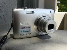 NIKON COOLPIX S3100 14mp 5x ZOOM - BOXED WITH ACCESSORIES - WORKING GREAT!