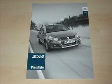 46116) Suzuki SX4 Preise & Extras Prospekt 09/2009