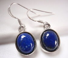Blue Lapis Earrings 925 Sterling Silver Corona Sun Medium-Small Size 1037k