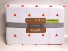 """NEW! The Land of Nod Little Prints Orange Triangle 96"""" Blackout Curtain Panel"""