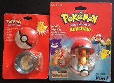 2 X Pokemon Original SEALED Charizard Tin Keyring Charmander Pokeball RARE
