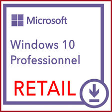 Windows 10 pro RETAIL à VIE envoi instantané 24/7 Worldwide BEST OF ESD