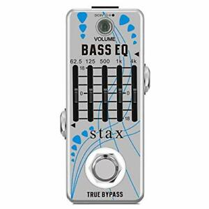 Stax Bass EQ Pedal 5 Band Equalizer Pedals For Bass Guitar With 5 Band Graphi...