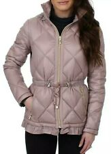 Nwt Ivanka Trump Packable Down Quilted Puffer Jacket Coat Peplum Pink Hooded L
