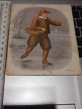 1860s era lithograph  APPARENTLY A TYPICAL DUTCHMAN !!    ideal gift