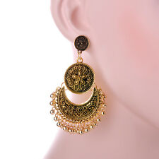 Hot Bohemia Exaggeration Bead Tassel Retro Gold Silver Plated Charm Earrings New