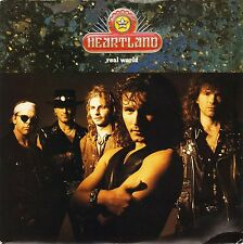 """HEARTLAND real world/hours to days AM 718 uk a&m 1991 7"""" PS EX/EX"""