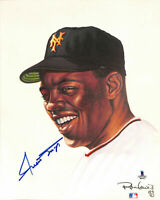 Willie Mays 8x10 SIGNED PHOTO AUTOGRAPHED REPRINT ( GIANTS HOF )