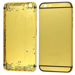 Plated Gold Phone Cover Frame Back Cover fit for iPhone 6 6s 6 Plus