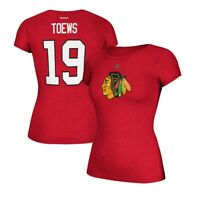 Jonathan Toews Reebok Chicago Blackhawks Player N&N  Jersey Red T-Shirt Women's
