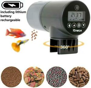 Automatisierte Futterspender Fische Aquarium Futterautomat Lithium Akku 3-6Monat