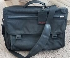 "TUMI Alpha Messenger 17"" Large Screen Laptop Briefcase Black"