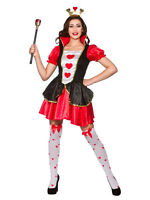 Queen of Hearts Ladies Fancy Dress Costume Alice In Wonderland Costume Outfit