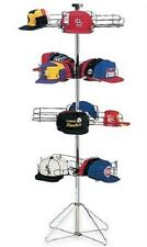 Cap Hat Baseball Rack Floor Standing 4 Tier Rotating Display Holds 96 Sport