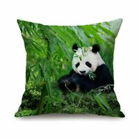 Panda Pillow Case Reversible Sequin Glitter Throw Cushion Cover-%