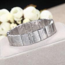 Genuine Natural Gibeon Iron Meteorite Rectangle Beads Bracelet 15x11mm