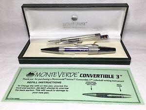 Monteverde Intima Clear/Demonstrator Rollerball Pen New in Box #MV40035