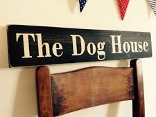 Dog House Sign Plaque Vintage Old Look Farmers Gift Kennel Home Food Pub