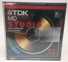 TDK MD STUDIO PROFESSIONAL BLANK RECORDABLE MINI DISC MD 74 MINUTES MINI DISK
