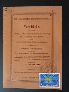 centenary of telephone maximum card Luxembourg 1985 (3)