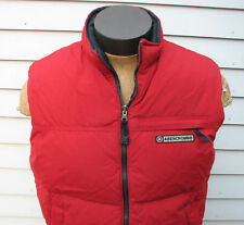 Abercrombie & Fitch Men's Red Down Jacket Puffer Vest Size Large L