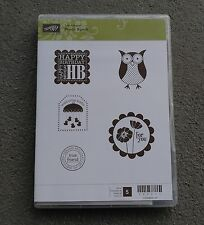 Stampin' Up Clear Mount Stamp Set Punch Bunch Baby Birthday Owl Friend NEW