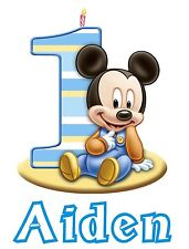 Personalized Custom Mickey Mouse 1st Birthday T Shirt Party Gift with Baby Name