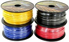 12 GA AWG GAUGE 100 FT SPOOLS REMOTE POWER GROUND WIRE CABLE PRIMARY AUTO 4 Pack