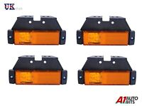 4X ORANGE AMBER MARKER SIDE LED AMBER LIGHTS TRAILER TRUCK LORRY RECOVERY 12/24V