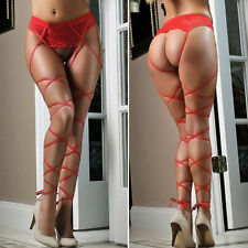 Sexy Hot Womens Lace Top Thigh-Highs Stockings Socks + Suspender Garter Belt