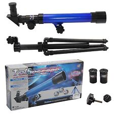 Powerful Blue Astronomical Telescope With Tripod Stargazing Educational Kids Toy