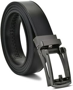 Men's Ratchet Belt Genuine Leather Mens Belt with Slide Ratchet Belts for men