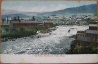 1907 Postcard: ''The Falls - Shelburne Falls, Mass MA''