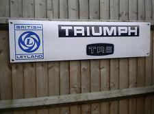Triumph TR6 Banner - British Leyland Cars Retro Garage Workshop pvc Sign