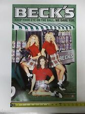 New Beck'S Beer Golf Girls Sign/Poster