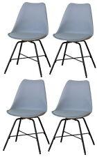 4x Chaise de salle à manger Niko cuisine à set en gris
