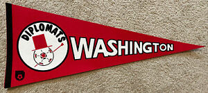 Vintage WASHINGTON DIPLOMATS Pennant - Defunct NASL soccer team DIPS flag 1970s