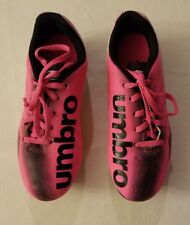 UMBRO Girls Arturo 2.0 Pink Black Cleats Soccer Shoes CHILDS Size 2 USED