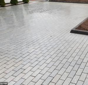 Flamed Silver Grey Granite 30mm Cobble Sett 200x100 Sawn Edge Full Pack Driveway
