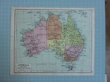 1933 Map Australia Queensland Victoria New South Wales Tasmania