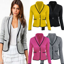 Womens Slim Fit Casual Smart Short Blazer Ladies Office Jacket Coat Suit Tops