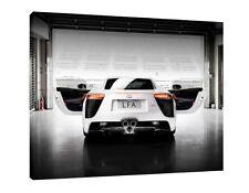 Lexus LFA - 16x12 Inch Canvas Art - Framed Picture Poster Supercar